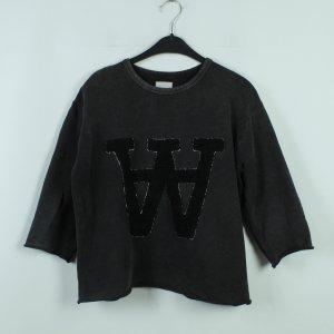 Wood Wood Sweat Shirt anthracite-black cotton