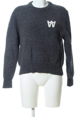 Wood Wood Wool Sweater light grey flecked casual look