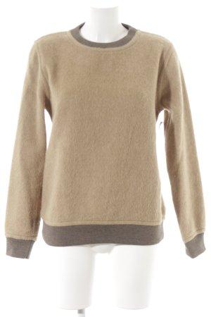Wood Wood Maglione di lana sabbia-marrone-grigio