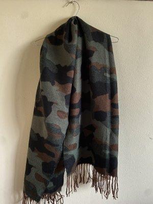Wool Blend Camouflage-Schal Unisex