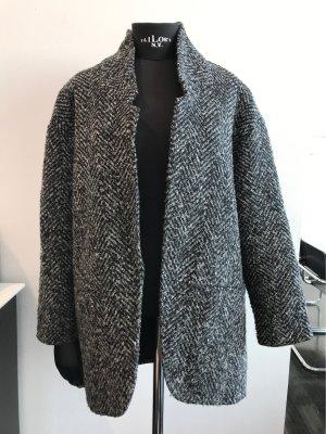 Wool Coat Grey Melange