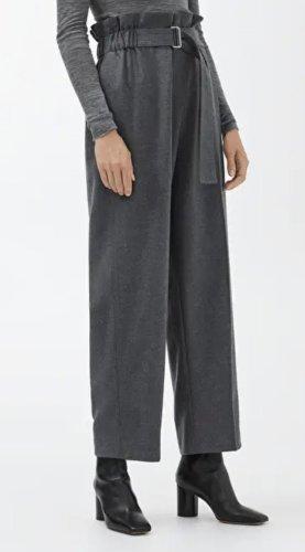 ARKET Pantalone a vita alta antracite-grigio scuro