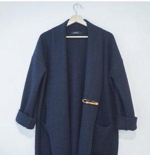 wool long cardigan