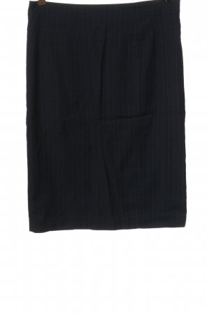 Wool Street 82 Bleistiftrock schwarz-hellgrau Streifenmuster Elegant