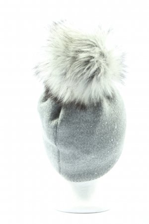 woolk Strickmütze blau Casual-Look