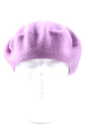 WOOLMARK Béret violet style décontracté