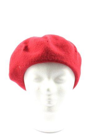 WOOLMARK Béret rouge style décontracté