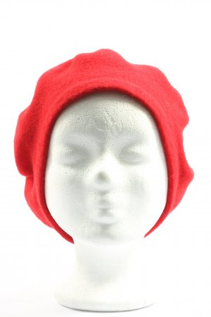 WOOLMARK Beret red casual look