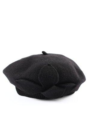 WOOLMARK Béret noir élégant
