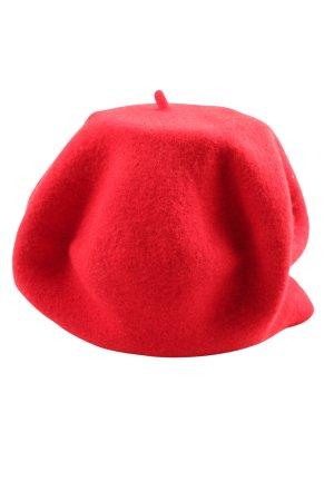 WOOLMARK Baskenmütze rot Casual-Look