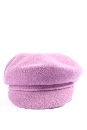 WOOLMARK Casquette plate violet style décontracté