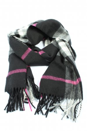 WOOLMARK Fringed Scarf check pattern casual look