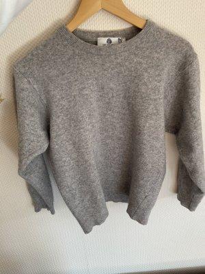 WOOLMARK Wool Sweater light grey wool