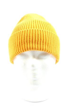 WOOLMARK Chapeau en tricot jaune primevère style décontracté