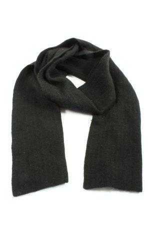 WOOLMARK Écharpe en laine noir moucheté style décontracté
