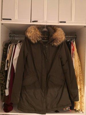 Woolrich Abrigo de plumón caqui