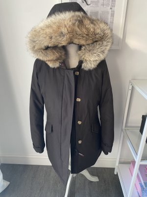 Woolrich Abrigo de plumón marrón oscuro