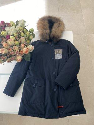 Woolrich arctic parka Jacke Mantel neu mit Ettiket L 40 Blau dunkelblau navy
