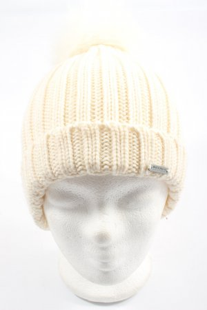 Woolrich Beanie cream cable stitch casual look