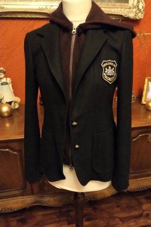 Woolrich Wool Blazer black-dark violet