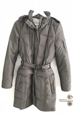 Woolrich Abrigo de plumón marrón grisáceo-gris antracita