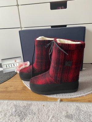 Woolrich Boots schwarz rot Größe 37