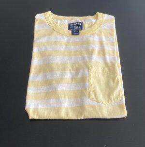 Woolrich Camiseta tipo polo amarillo claro-blanco