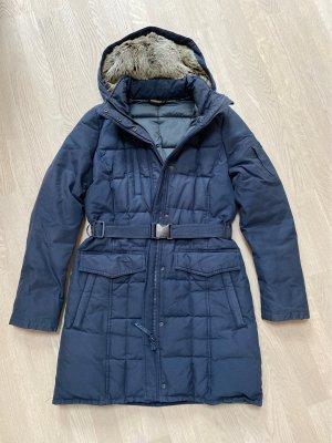 Woolrich Daunenjacke mit Fellkapuze und Gürtel zum vorne oder hinten schließe