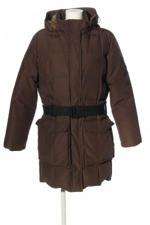 Woolrich Down Coat brown quilting pattern casual look