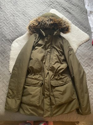 Woolrich Down Coat green grey