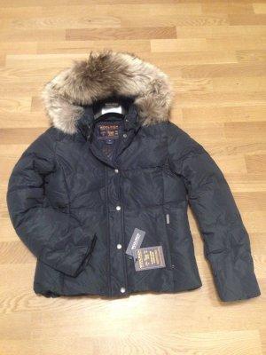 Woolrich Down Jacket dark blue polyester