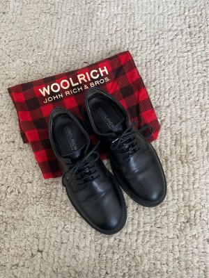 Woolrich Lace Shoes black leather