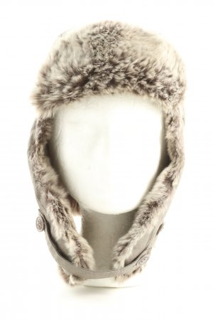 Woolrich Aviator Hat light grey casual look