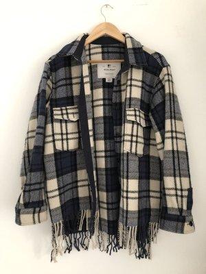 Woolrich Veste en laine noir-bleu foncé