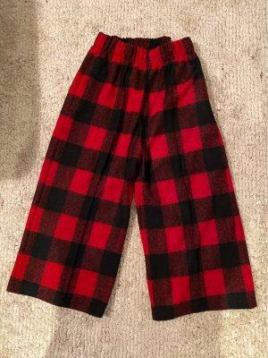 Woolrich Pantalone culotte nero-rosso scuro