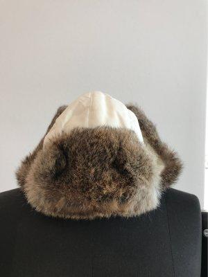 Woolrich Chapeau en fourrure blanc-gris clair