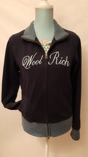 Woolrich Chaqueta de tela de sudadera blanco-azul oscuro