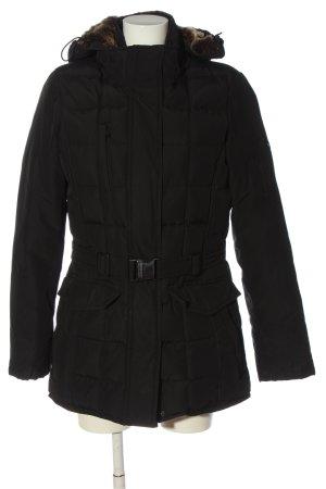 Woolrich Chaqueta con capucha negro estampado acolchado look casual