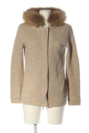 Woolrich Hoody cream-brown flecked casual look