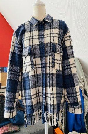 Woolrich Houthakkershemd wit-blauw