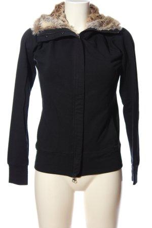 Woolrich Fake Fur Jacket black-brown casual look