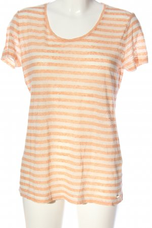 Woolrich Blusa de manga corta blanco-naranja claro look casual