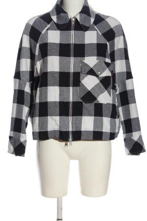 Woolrich Krótka kurtka czarny-biały Na całej powierzchni W stylu casual