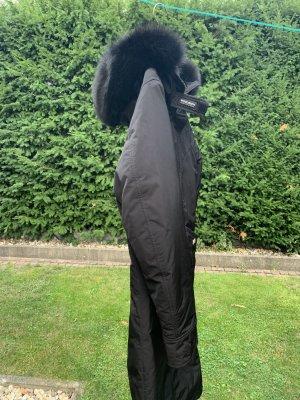 Woolrich Pikowany płaszcz czarny Poliester