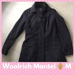Woolrich Gabardina negro tejido mezclado