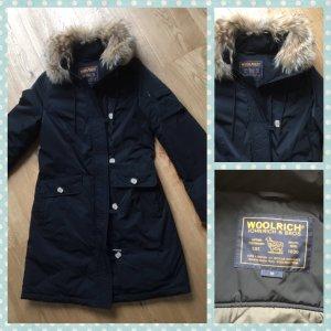 Woolrich Abrigo de plumón negro tejido mezclado