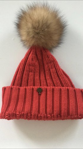 Woolrich Cappello a maglia rosso
