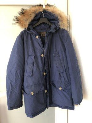 Woolrich Winter Jacket steel blue-cornflower blue