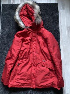 Woolrich Short Coat red cotton