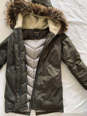 Woolrich Abrigo de invierno gris verdoso